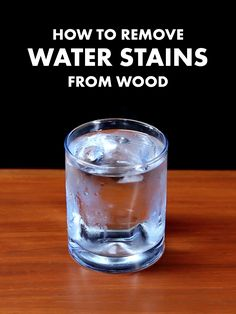 Use an unexpected condiment to get water stains out of wood!