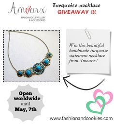 Amourx Turquoise necklace Giveaway on Fashion and Cookies