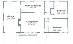 Small Home Designs   Free Small House Plans - Plans for 2 Bedroom, 1 Bathroom House