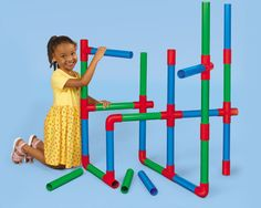 Giant Pipe Builders.  You can just as easily buy PVC pipe at a local home improvement center and paint it or not!