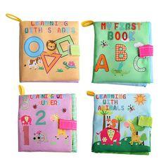 4スタイル赤ちゃんのおもちゃ柔らかい布洋書擦れる音音幼児教育ベビーカーガラガラのおもちゃ新生児ベビーベッドベッド赤ちゃんのおもちゃ0-36ヶ月