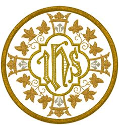 Machine Embroidery Design: Vintage Ecclesiastical Design 1001