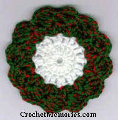 Work up a set of wreath-like coaster for Christmas.  They're super quick and easy!