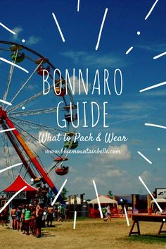 What to pack and wear to bonnaroo music festival