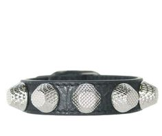 Notes Anthracite Grey leather bracelet with signature hardware and buckle. Small: 16.5cm to the l...