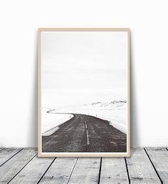 Modern Minimalist Black and White Photography Winter Scandinavian Bedroom Decor, Scandinavian Art, Winter Home Decor, Winter Art, Home Wall Art, Home Art, Minimalist Photography, White Photography, Black Wall Decor