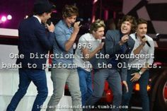 One Direction: 2012 Olympics Closing Ceremonies!: Photo One Direction hits the stage at the Closing Ceremony of the 2012 Olympics on Sunday night (August held in London, England. The guys -- Niall Horan, Zayn Malik,… One Direction Facts, One Direction Pictures, I Love One Direction, Direction Quotes, Niall Horan, Zayn Malik, 1d Day, Nour, What Makes You Beautiful