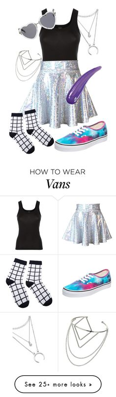 """""""Holographic"""" by imanamericanpsycho on Polyvore featuring La Perla, Vans and Miss Selfridge"""