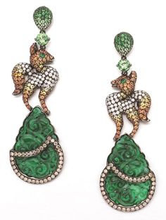 Royal Cat of the East Earrings by Wendy Yue