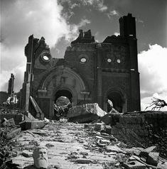 Hiroshima and Nagasaki: Photos From the Ruins Urakami Cathedral (Roman Catholic), Nagasaki, September, Nagasaki, Enola Gay, Time Pictures, Kaiser, Roman Catholic, World War Two, Wwii, Hiroshima Shadows, Destruction