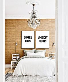 Coffee Days Whiskey Nights set of two by ThePrintableConcept