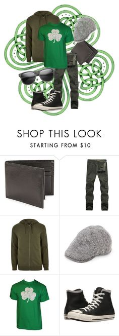 """Luck of the Irish (Male)"" by grayrainbow369 on Polyvore featuring Perry Ellis, River Island, Block Headwear, Converse, ZeroUV, men's fashion and menswear"