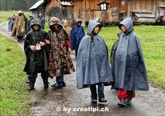 Gut geschützt auf der gemütlichen Regenwanderung