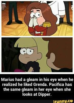 Gravity Falls Anime, Gravity Falls Funny, Gravity Falls Fan Art, Gravity Falls Comics, Gravity Falls Dipper, Disney Xd, Disney Memes, Dipper And Pacifica, Dipper And Mabel