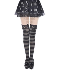 68adfdbff11 Striped Cat Tights One of the hottest Japanese fashion accessories around  right now