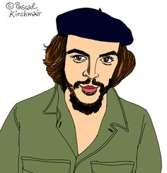 """Ernesto Che Guevara"" (June 14, 1928 – October 9, 1967) was an Argentine Marxist revolutionary, physician, author, guerrilla leader, diplomat, and military theorist. A major figure of the Cuban Revolution, his stylized visage has become a ubiquitous countercultural symbol of rebellion and global insignia in popular culture. (Quoted from Wikipedia.org), エルネスト・チェ・ゲバラ"