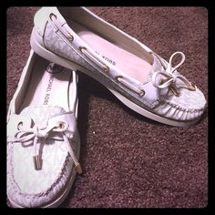 MK white leather shoes! Only worn a couple times, practically brand new! Michael Kors Shoes