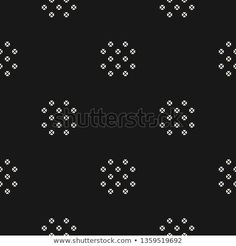 Subtle black and white abstract graphic background. Minimal ornament with small flowers, petals. Textile Pattern Design, Geometric Pattern Design, Textile Patterns, Textile Prints, Floral Prints, Indian Patterns, Stencil Patterns, Print Patterns, Indian Embroidery Designs