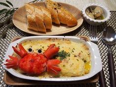 餅入り蟹の豆乳みそのデコグラタン|レシピブログ