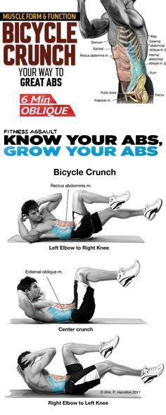 Bicycle Crunch Bicycle Crunch Bicycle Crunches Workout Guide