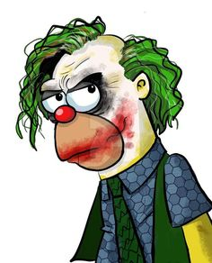 Krusty the Clown - The Joker, The Simpsons Cartoon Kunst, Cartoon Art, Cartoon Characters, The Simpsons, Joker Kunst, Krusty The Clown, Simpsons Drawings, Simpson Wallpaper Iphone, Drawing Faces