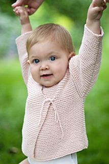 "They don't call this pattern ""easy peasy"" for nothing. Knit in very simple garter stitch, even a relatively new knitter can whip up this cardigan for the little one in their life. Make it in Jenny Watson's Babysoft DK for a soft, machine washable gift that will impress."