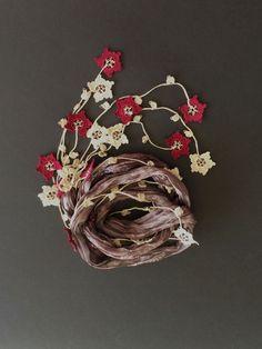 oya crochet scarf necklace