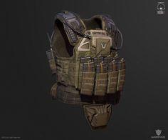 ArtStation - new 3d model for crytek (soldier vest), Denis Didenko