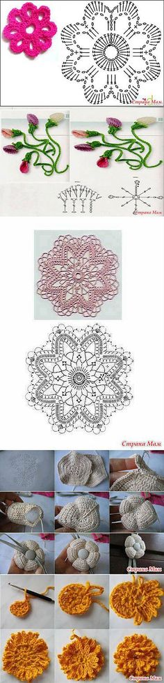 """Knit flowers - circuit: Diary of the """"Crochet for Beginners"""" - Home Moms"""