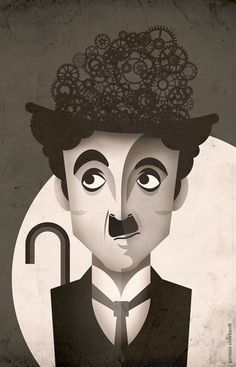 Mascara is known as a cosmetic commonly utilized to boost the eyelashes. Charlie Chaplin, Arte Pop, Cubism Art, Graphic Design Illustration, Pop Art, Art Drawings, Street Art, Abstract Art, Sketches