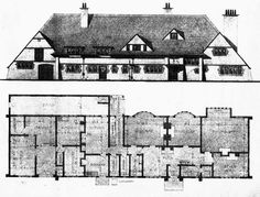 1899 – Dixcot, Tooting, London. CFA Voysey ...