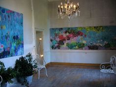 Large florals by Parisian artist and art historian Marie Theres Berger