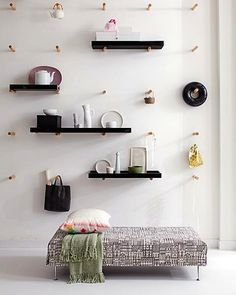 peg wall / shelves and peg storage