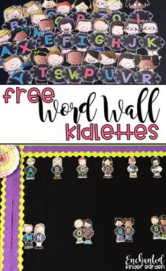 Create a beautiful word wall for free! Your kids will love using their kidlette word wall to read sight words and create amazing stories! They will reference the word wall during small group instruction, center and Daily 5 time, whole group and independen Classroom Setting, Classroom Setup, Classroom Design, Classroom Organization, Classroom Activities, Classroom Management, Beginning Of School, First Day Of School, Back To School
