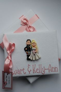 Pink Scottish Fimo Wedding Guest Book