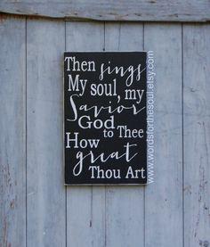 Hymn Gospel Wall Art How Great Thou Art Rustic by WordsForTheSoul