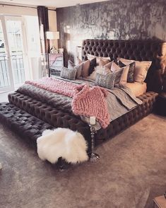 54 cozy home decorating ideas for girls bedrooms 20 homedecorideas bedroomdesignideas 22356156898993 Dream Rooms, Dream Bedroom, Girls Bedroom, Bedroom Ideas, Beds Master Bedroom, Purple Bedrooms, Bedroom Small, Bedroom Styles, Bedroom Themes