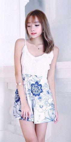 Lacepipe floral romper dress