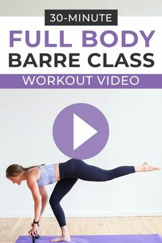 This POWER BARRE CLASS AT HOME is 30 Minutes of barre exercises paired with HIIT and strength training. This Cardio Barre Workout is designed for women who want to workout at home! All you need is a set of dumbbells Arm Workout Videos, Barre Workout Video, Cardio Barre, Beginner Workout At Home, Cardio Workout At Home, At Home Workouts, Barre Fitness, Cardio Workouts, Free Workout