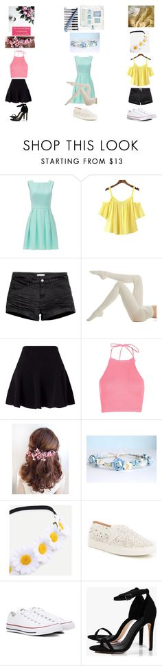 """""""The (modern) Schuyler sisters!"""" by ariagrimesqoutev ❤ liked on Polyvore featuring beauty, Kate Spade, H&M, Hue, Miss Selfridge, Boohoo, Antonio Melani, Converse and modern"""