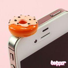 Doughnut Earphone Jack Charm - Style 4