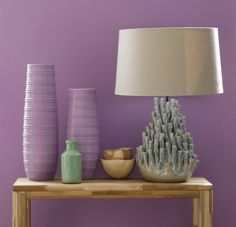 """Acropora Lamp with this seasons pantone colour of the year """"Radiant Orchid"""". www.lazysusanaustralia.com.au"""