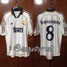 c268d4cf08e Real Madrid 1998-2000 Home  8 Mcmanaman Real Madrid Football