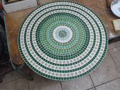 Tampos De Mesa Em Mosaico,pastilhas De Vidro 60 Cm Diametro - R$ 200,00 no MercadoLivre