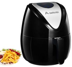 Buy Aobosi Digital Air Fryer Oil Free Hot Airfryer LED Touch Screen Multifunctional Programmable Cooking Set with Free Cookbook Black Large Air Fryer, Fryer Machine, Electric Fryer, No Oil Fryer, Air Fryer Review, Best Blenders, Cookbook Recipes, Multifunctional, Free Food