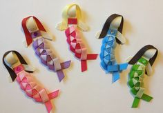 Mermaid Ribbon Sculptures by www.facebook.com/babybugwear!