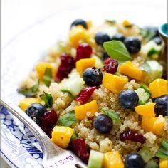 Blueberry Mango Quinoa Salad with Lemon Basil Dressing Recipe