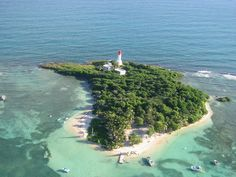 Little island close by Gosier, Guadeloupe,