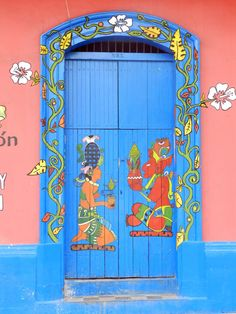 "A doorway in León, Nicaragua ""...This photo illustrate one of the many beautiful doors in León, Nicaragua. Beautiful doors like this can be found throughout the colonial cities of both León and Granada. One can become fascinated by them and end up taking photos of doors over and over again..."""