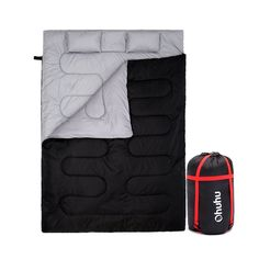 Ohuhu Double Sleeping Bag With 2 Pillows And A Carrying Bag, Waterproof Lightweight 2 Person Sleeping Adult Bag For Camping, Backpacking, Hiking - This Ohuhu double sleeping bag is designed for one couple or family with single young child using in cabins Camping List, Camping Checklist, Camping Essentials, Family Camping, Tent Camping, Camping Gear, Camping Hacks, Backpacking, Camping Gadgets